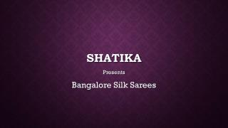 Shop for Bangalore Silk Sarees Online