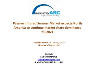 Passive Infrared Sensors Market: Asia-Pacific to exhibit huge demand growth till at least 2021