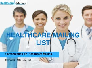 Healthcare Mailing List