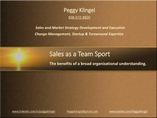 Sales as a Team Sport by Peggy Klingel