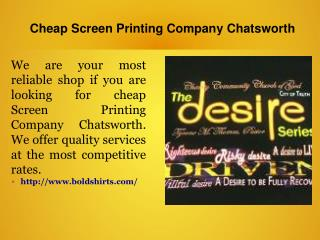 Cheap Screen Printing Company Chatsworth