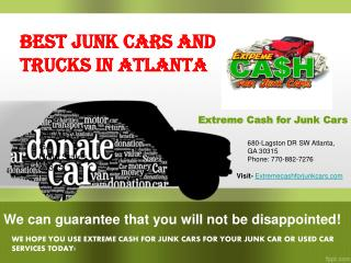 cash junk cars Atlanta:- Cash On The Spot