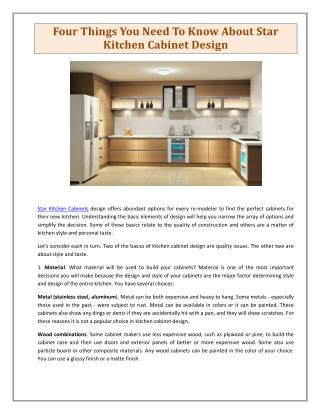 Kuna Kitchen Cabinets