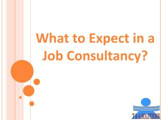What to Expect in a Job Consultancy