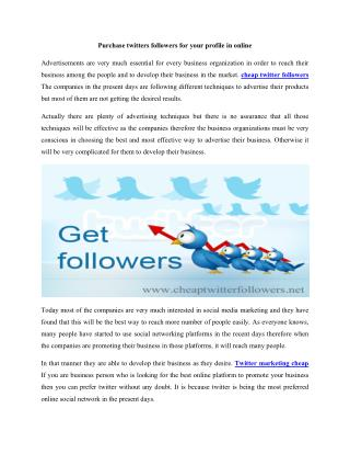 Prefer twitter for your business promotions