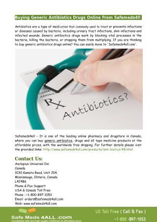 Buying Generic Antibiotics Drugs Online