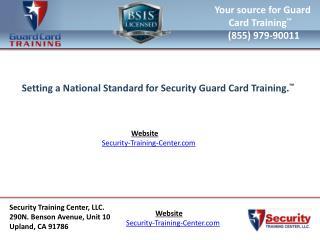 Online guard card training