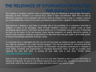 The Relevance of Information Protection For Small Businesses