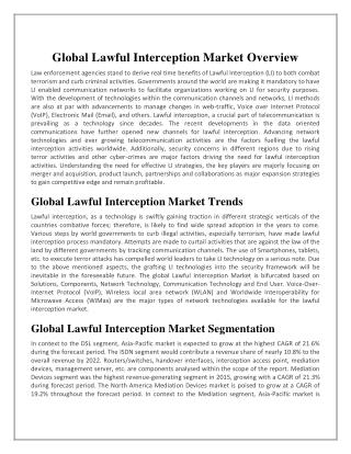 Global Lawful Interception Market