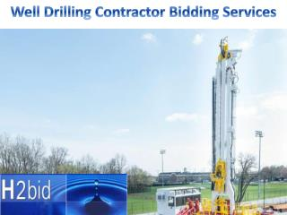 Well Drilling Contractor Bidding Services