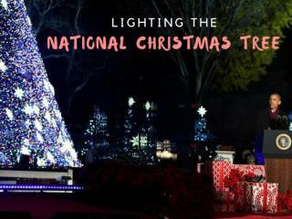 Lighting the National Christmas Tree