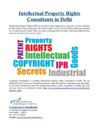 Intellectual Property Rights Consultants in Delhi