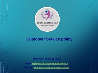 Sample PPT on Customer Service policy