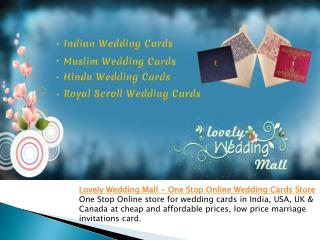 Lovely Wedding Mall - One Stop Online Wedding Cards Store