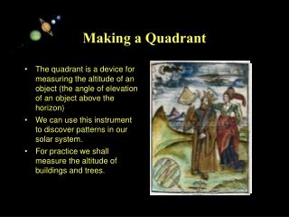Making a Quadrant