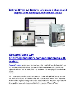 RebrandPress 2.0 review-(SHOCKED) $21700 bonuses
