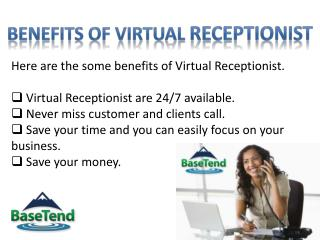 Virtual Receptionist service by BaseTend