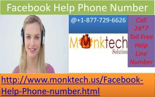 For Facebook Help Phone number Click on 1-877-729-6626 Toll Free