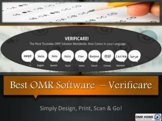 Best OMR Software  – Verificare