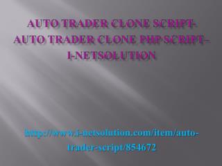 Auto Trader Clone Script- Auto Trader Clone PHP Script– i-Netsolution