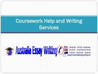 Coursework Help and Writing Services