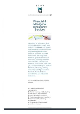 Financial Management Consulting Services in Dubai, UAE
