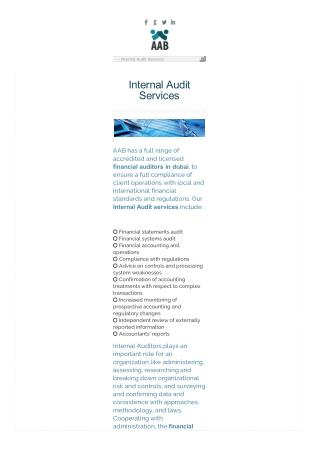 Internal Audit Services in Dubai, UAE