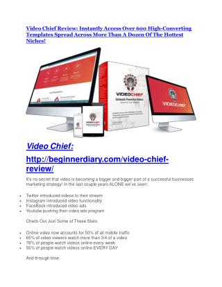 Video Chief review - Video Chief (MEGA) $23,800 bonuses