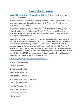 Scratch Vidz Pro Review