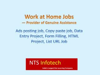 Work at Home Jobs — NTS Infotech Provider of Genuine Assistance
