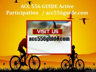 ACC 556 GUIDE Active Participation / acc556guide.com