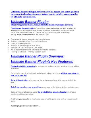Ultimate Banner Plugin review demo-- Ultimate Banner Plugin FREE bonus