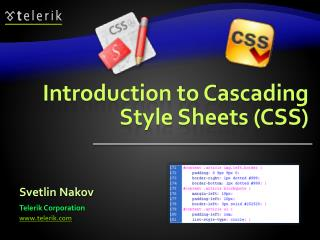 Introduction to Cascading Style Sheets CSS
