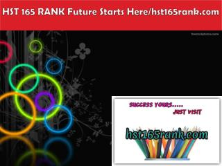 HST 165 RANK Future Starts Here/hst165rank.com