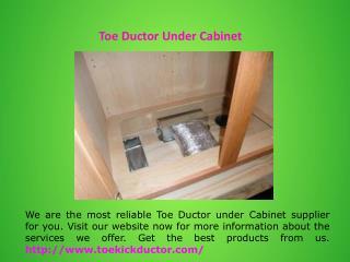 Under Cabinet Toe Kick Ducting Kit