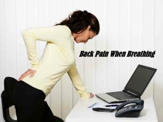 Call a Doctor: Upper Back Pain When Breathing