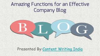 Amazing functions for an effective company blog
