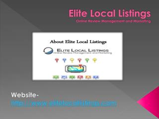 Elite Local Business Listing USA