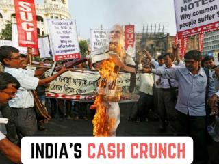 India's cash crunch