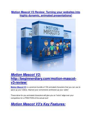 Motion Mascot V3 REVIEW - DEMO of Motion Mascot V3
