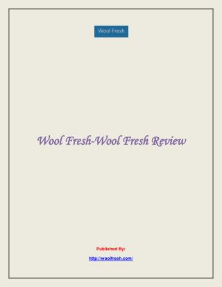 Wool Fresh Review