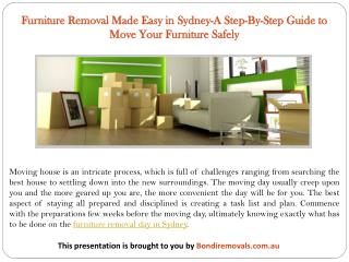 Furniture Removal Made Easy in Sydney-A Step-By-Step Guide to Move Your Furniture Safely