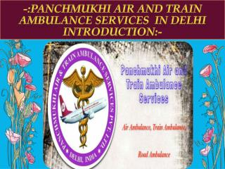 Get Reliable Air Ambulance Services in Delhi by Panchmukhi