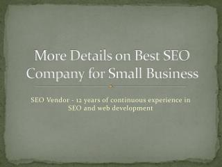 more details on best seo company for small business