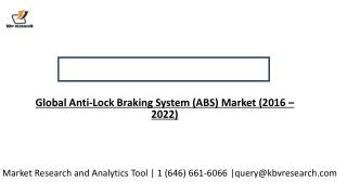 Global Anti-Lock Braking System