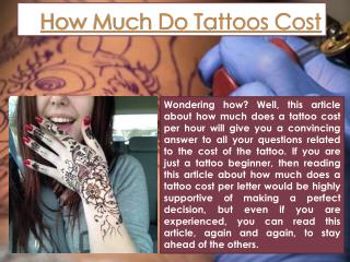 How much do tattoos cost