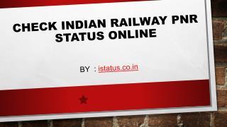 Check PNR statusOnline