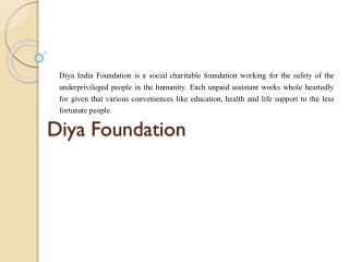 Diya foundation non profit organizations