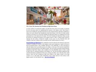 Why Choose The Stunning Gaur Saundaryam High Street Shops