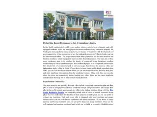 PreferPrefer Rise Resort Residences to Get A Luxurious Lifestyle Rise Resort Residences to Get A Luxurious Lifestyle